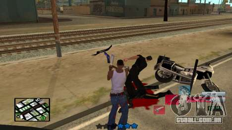 C-HUD by SampHack v.19 para GTA San Andreas por diante tela
