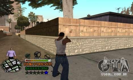 C-HUD СМИ PARA SEMPRE para GTA San Andreas terceira tela