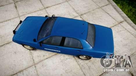 GTA V Vapid Police Cruiser Gendarmerie2 para GTA 4 vista direita