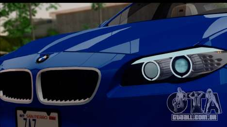 BMW M5 F10 2012 para vista lateral GTA San Andreas