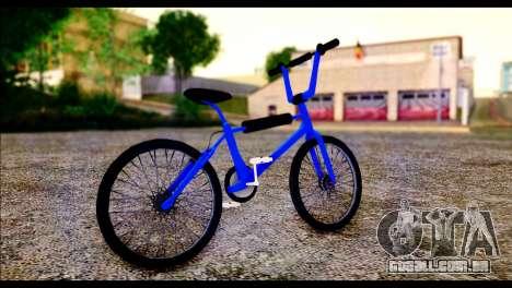 New BMX Bike para GTA San Andreas traseira esquerda vista