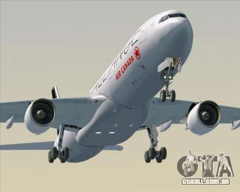 Airbus A330-300 Air Canada Star Alliance Livery para o motor de GTA San Andreas