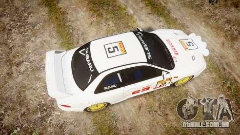Subaru Impreza WRC 1998 v4.0 SA Competio para GTA 4 vista direita