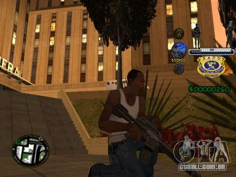 C-HUD Police S.A.P.D para GTA San Andreas por diante tela
