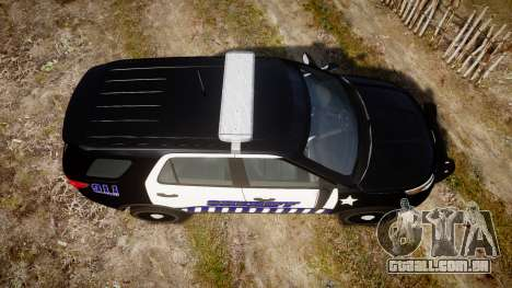 Ford Explorer 2013 Sheriff [ELS] v1.0L para GTA 4 vista direita