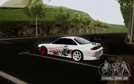 Nissan Silvia S14 VCDT V2.0 para GTA San Andreas vista traseira