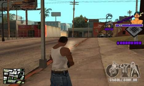 C-HUD King Of Detroit para GTA San Andreas por diante tela