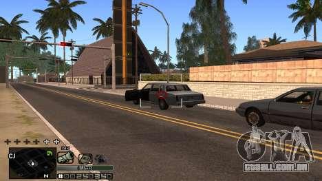 C-HUD Silver para GTA San Andreas por diante tela