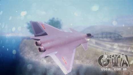Chenyang J-20 Air Force BF4 para GTA San Andreas esquerda vista