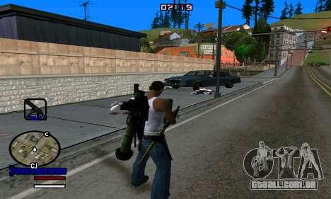 C-HUD Normal para GTA San Andreas quinto tela