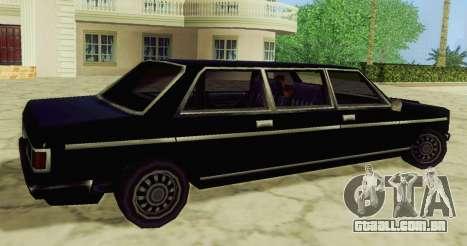 Admiral Limousine para GTA San Andreas esquerda vista