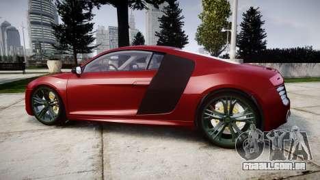 Audi R8 V10 Plus 2014 para GTA 4 esquerda vista