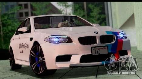 BMW M5 F10 2012 para as rodas de GTA San Andreas