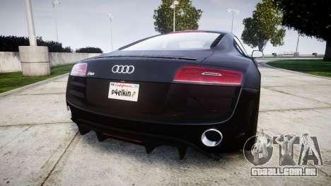 Audi R8 plus 2013 HRE rims para GTA 4 traseira esquerda vista