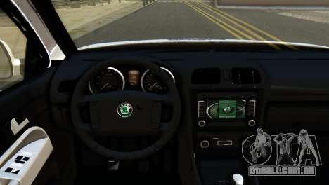 Skoda Octavia Scout Police para GTA San Andreas vista direita