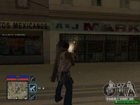 C-HUD Only Ghetto para GTA San Andreas por diante tela