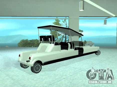 Limgolf para GTA San Andreas esquerda vista