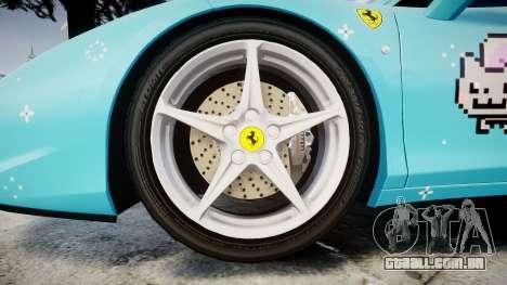 Ferrari 458 Italia 2010 v3.0 Purrari para GTA 4 vista de volta