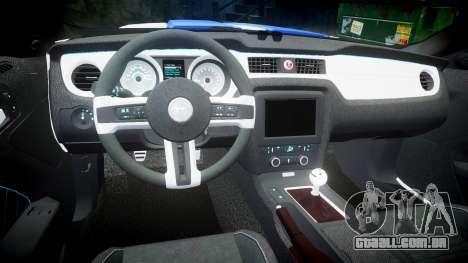 Ford Mustang GT Tobey Marshall para GTA 4 vista interior