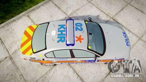 BMW 525d E60 2010 Police [ELS] para GTA 4 vista direita