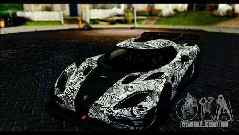 Koenigsegg One:1 v2 para GTA San Andreas vista inferior