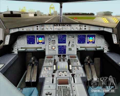 Airbus A330-300 Air Canada Star Alliance Livery para GTA San Andreas interior