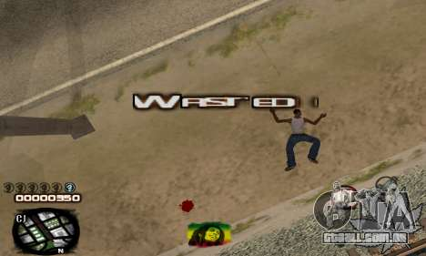 C-HUD Rasta para GTA San Andreas por diante tela