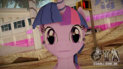 Twilight Sparkle from My Little Pony para GTA San Andreas terceira tela