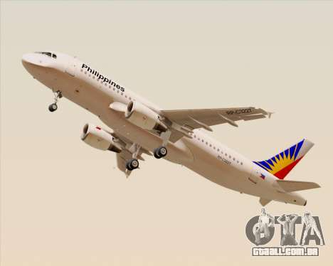 Airbus A320-200 Philippines Airlines para GTA San Andreas vista direita