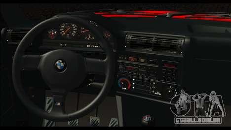 BMW M3 E30 Stock para GTA San Andreas traseira esquerda vista