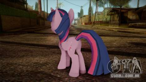 Twilight Sparkle from My Little Pony para GTA San Andreas segunda tela
