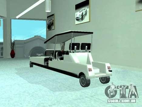 Limgolf para GTA San Andreas vista traseira