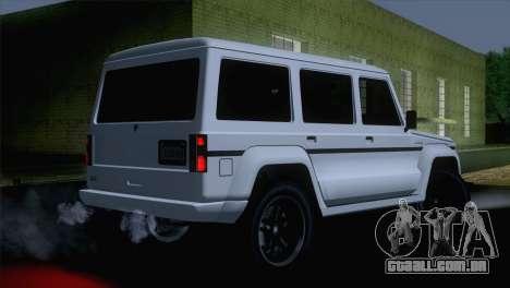 GTA 5 Benefactor Dubsta IVF para GTA San Andreas esquerda vista