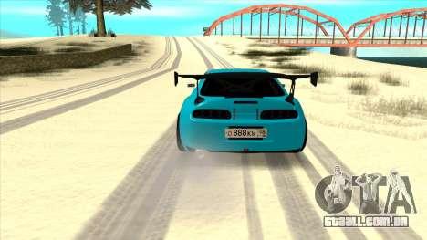 Toyota Supra Blue Lightning para GTA San Andreas vista direita