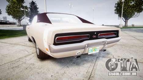 Dodge Charger RT 1969 para GTA 4 traseira esquerda vista