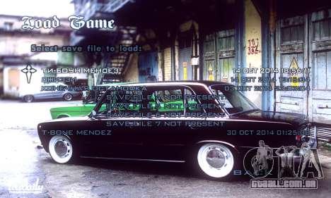 Menu Russo Carros para GTA San Andreas por diante tela