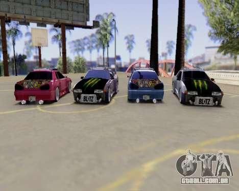 Elegy v2.0 para GTA San Andreas vista traseira