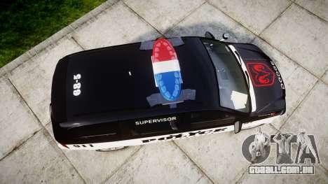 Dodge Grand Caravan LCPD [ELS] para GTA 4 vista direita
