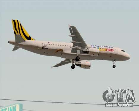 Airbus A320-200 Tigerair Philippines para GTA San Andreas vista interior
