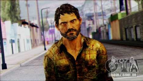 Joel from The Last Of Us para GTA San Andreas terceira tela