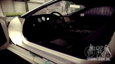 Toyota Supra Street Edition para GTA San Andreas vista traseira