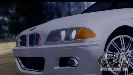 BMW M3 E46 Sedan para GTA San Andreas vista traseira