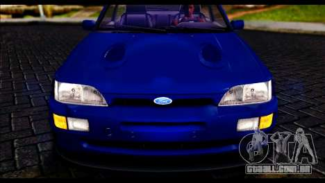 Ford Escort RS Cosworth para GTA San Andreas traseira esquerda vista