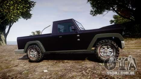 Senran Pioneer Pickup para GTA 4 esquerda vista