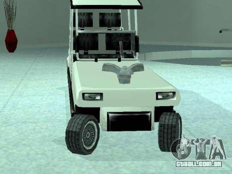 Limgolf para GTA San Andreas traseira esquerda vista