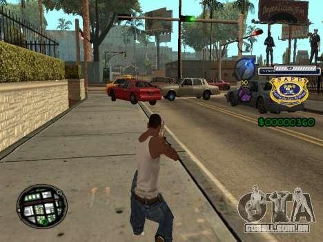C-HUD Police S.A.P.D para GTA San Andreas segunda tela
