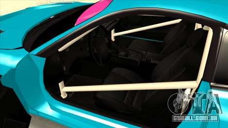 Toyota Supra Blue Lightning para GTA San Andreas vista traseira