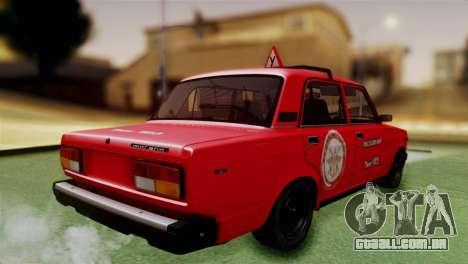 VAZ 2107 Auto Escola para GTA San Andreas esquerda vista
