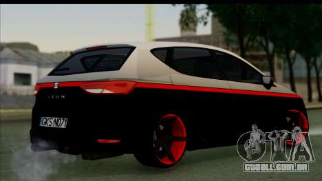 Seat Leon Hellandreas 2013 para GTA San Andreas esquerda vista