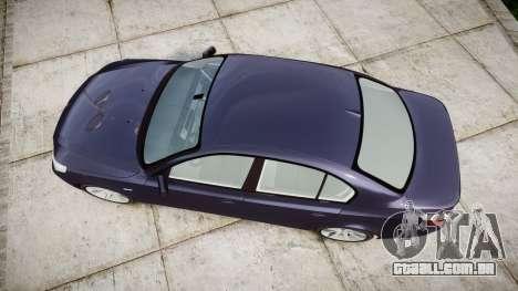 BMW 525d E60 2009 para GTA 4 vista direita